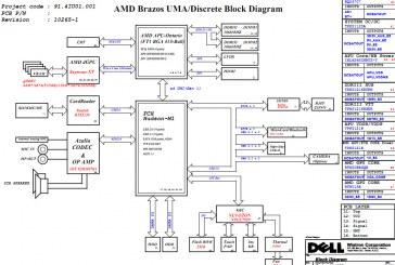 مخطط جهاز  Dell Inspiron M4040 laptop Schematic