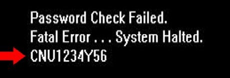 password check failed-fatale rror system halted