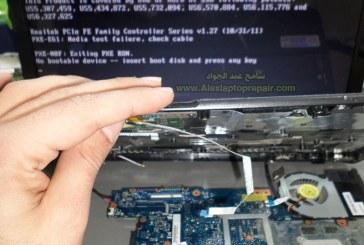 إصلاح العطل المتكرر فى موديلات Toshiba Satellite C850/C855/L850/L855 no display problem الشاشة السوداء , لا يعرض