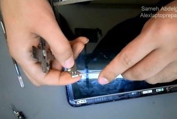 [فيديو] تغير مفصلات اللاب توب المكسورة – repair laptop hinge broken