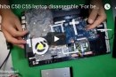 Toshiba C50 C55 laptop disassemble For beginners – للمبتدأين فك لاب توب توشيبا