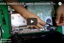 "Toshiba Satellite L655 laptop disassemble ""For beginners"" – للمبتدأين فك لاب توب توشيبا"