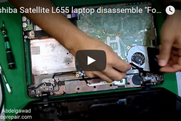"Toshiba Satellite L655 laptop disassemble ""For beginners"" – للمبتدأين فك لاب توب توشيبا"