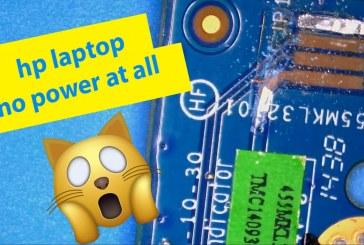 [فيديو] لاب توب اتش بي لا يعمل باور Hp Laptop does not turn on Fix Power Switch Button Board